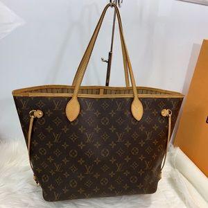 100% Authentic Louis Vuitton Monogram Neverfull MM